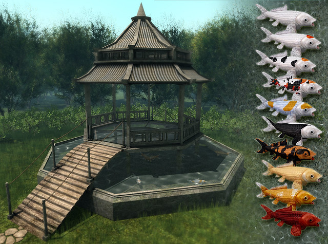JIAN Koi Pond Gazebo (FaMESHed August)