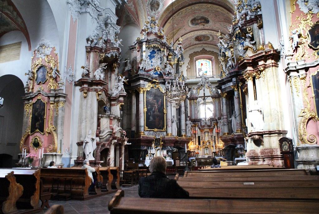 Dans une autre église baroque de Vilnius.