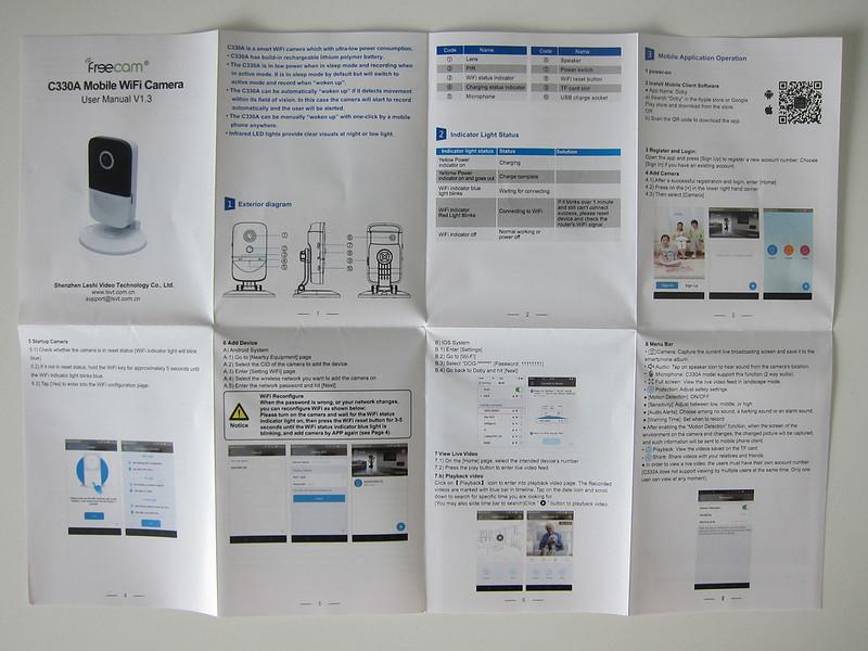 Freecam Mobile Wi-Fi Camera (C330A) - Instructions