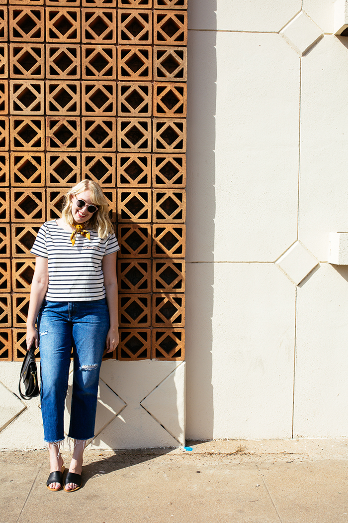 austin style blogger writes like a girl madewell staycation striped tee3