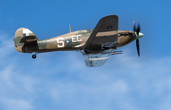 Hurricane aeroplane flyby Withernsea 2