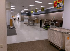 Sears Jonesboro, view down the middle actionway