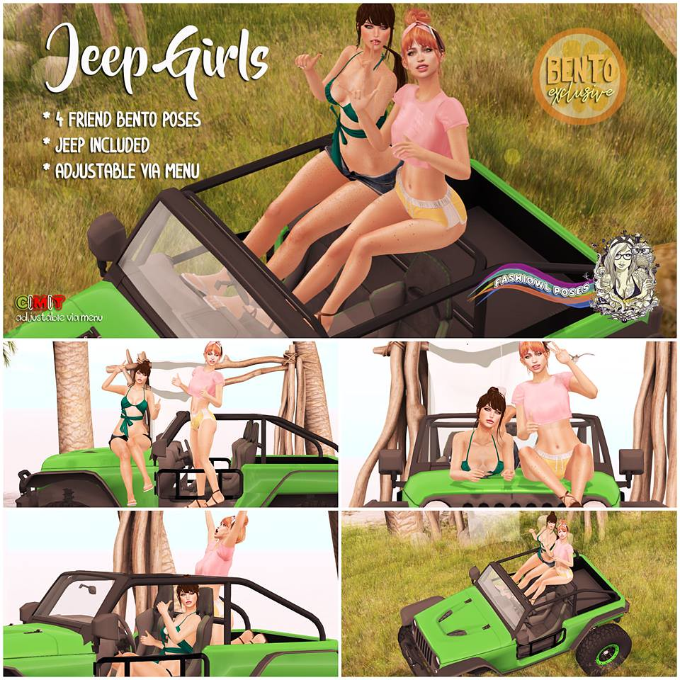 =fashiowl poses= Jeep Girls (BENTO) - SecondLifeHub.com