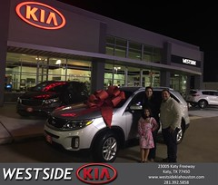 #HappyBirthday to Katherina from Luis Espinoza at Westside Kia!