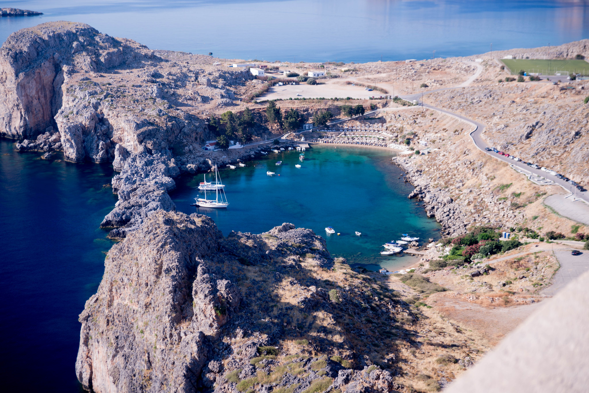 Harbour Lindos Rhodes Greece