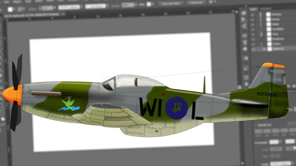 67Creating Aircraft Profiles with Adobe Illustrator and Photoshop