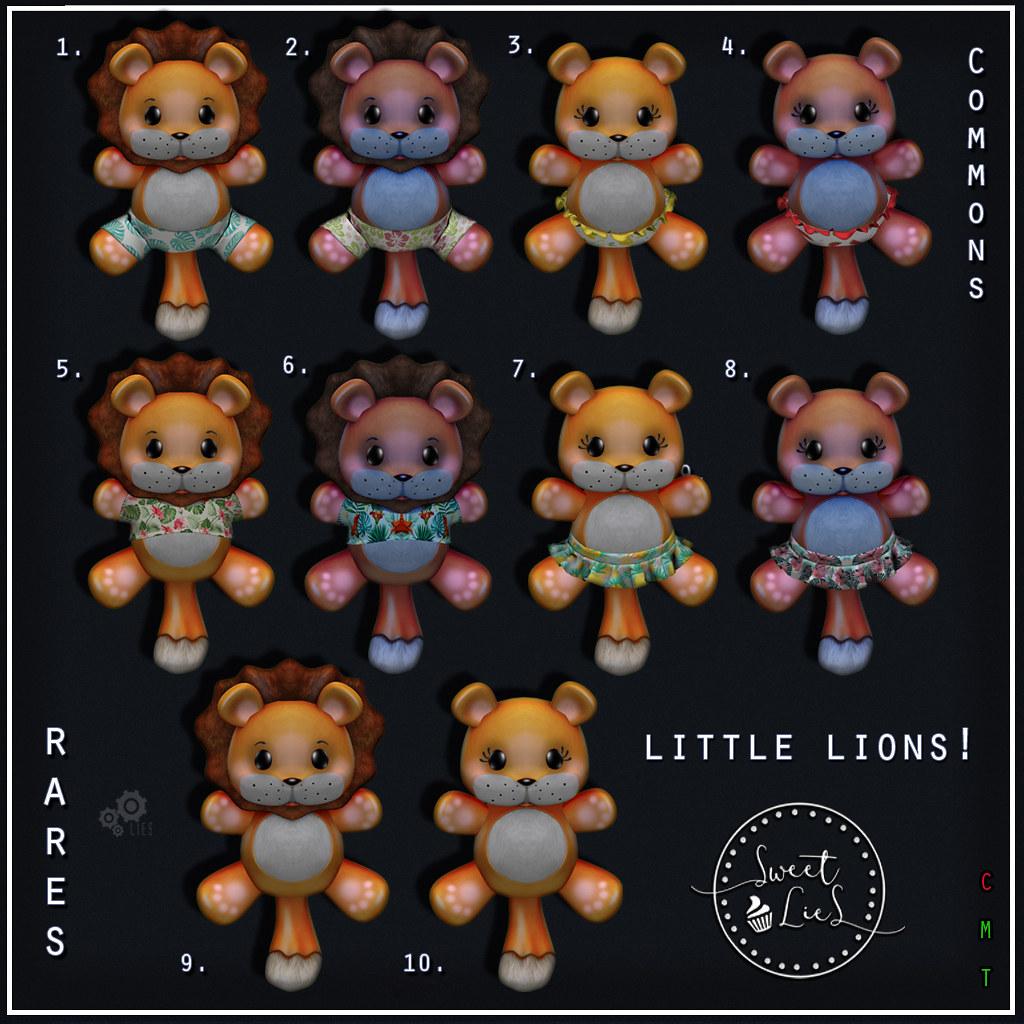 Little Lions Gacha - Sweet Lies Original - SecondLifeHub.com