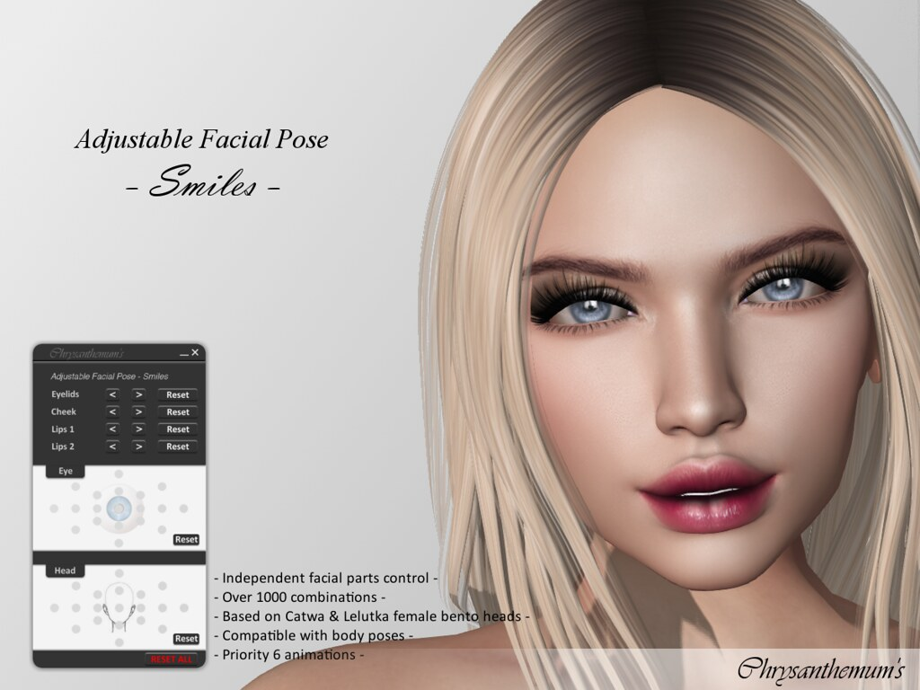 Adjustable Facial Pose - Smiles - SecondLifeHub.com