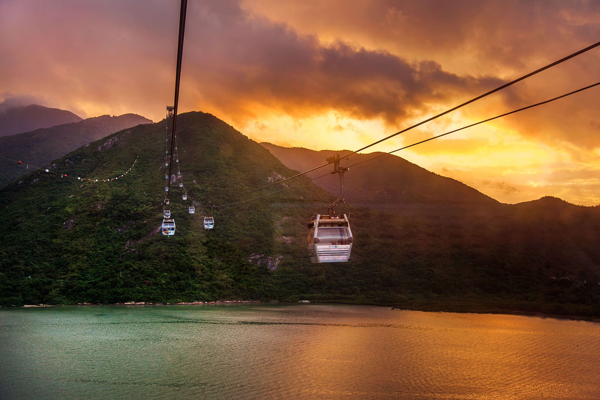 Ngong Ping 360 at Sunset