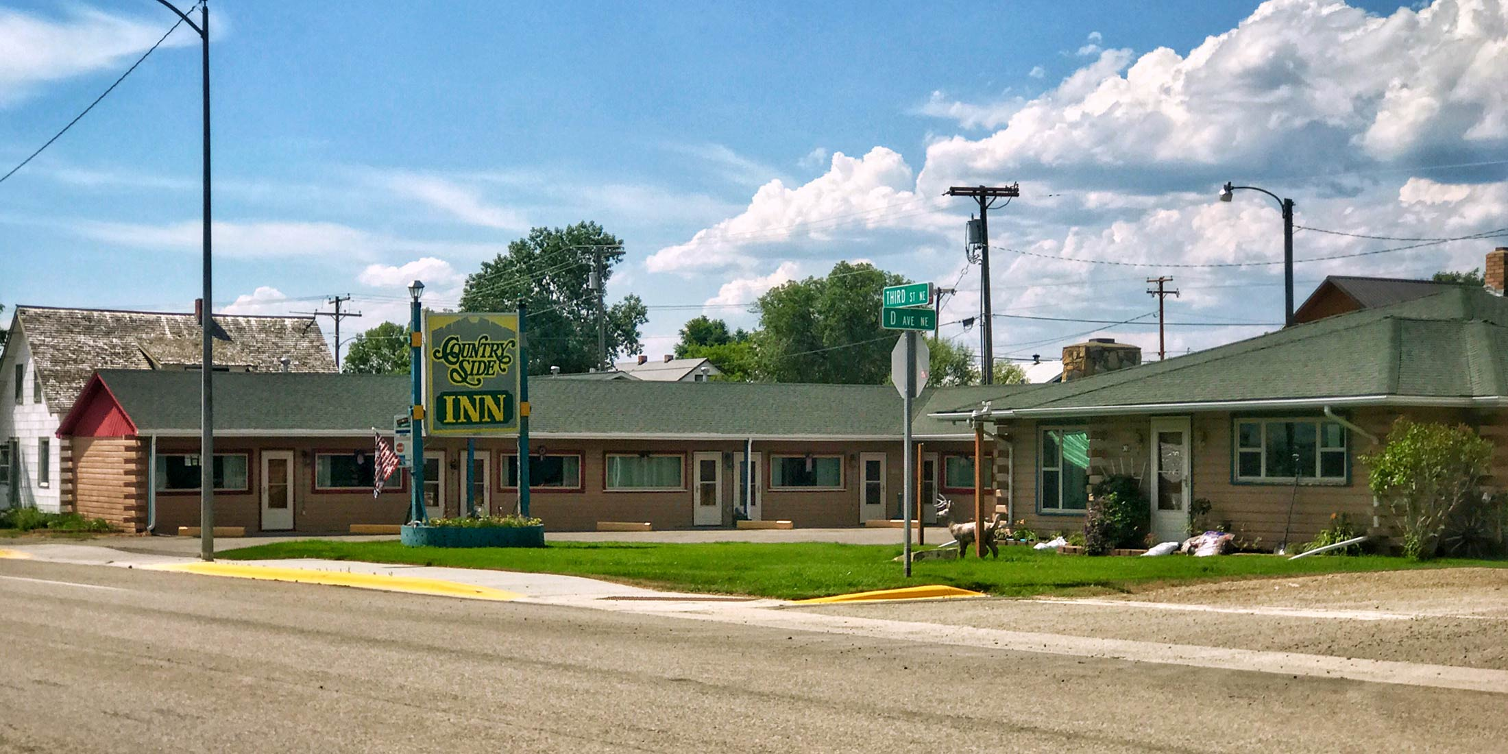 Lodging located on 3rd Street North, Highway 12, in Harlowton, Montana in Wheatland County.