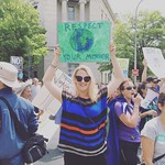 Cedar Lane staff member at the Climate March, 4.29.17