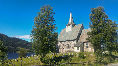 norway trip church river vacation