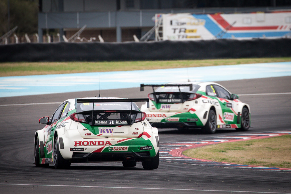 18 MONTEIRO Tiago (prt) Honda Civic team Castrol Honda WTCC action during the 2017 FIA WTCC World Touring Car Race of Argentina at Termas de Rio Hondo, Argentina on july 14 to 16 - Photo Alexandre Guillaumot / DPPI