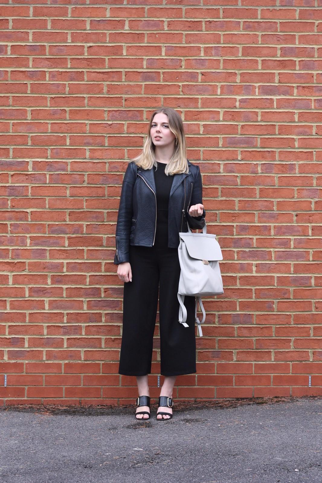 Whistles Pimlico grey rucksack