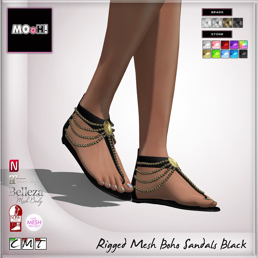 MOoH! Boho sandals black - SecondLifeHub.com