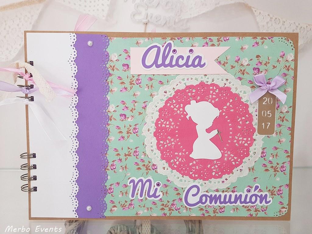 Libro de firmas comunión niña Merbo Events