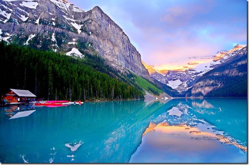 Lake Louise sunrise (2)