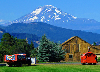 Oregon Barn and Mt. Adams 8-13