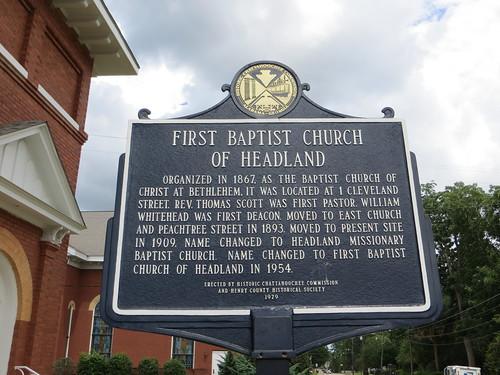 First Baptist Church of Headland Marker (HCC) Headland AL
