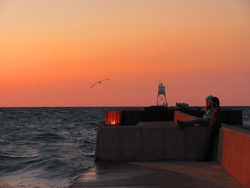 Sunset in Grand Marais, Michigan. Photographer Joann Kraft
