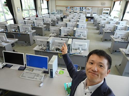 中津商業高校のパソコン実習室