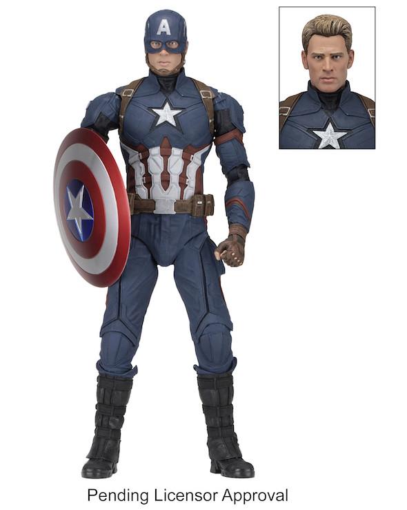英雄內戰?!NECA MARVEL 系列【美國隊長】Captain America 1/4 比例可動人偶作品