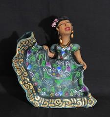 Tehuana Pottery Woman Aguilar Oaxaca