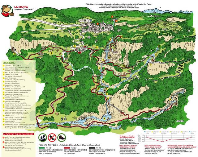 Mappa Parco cascate molina