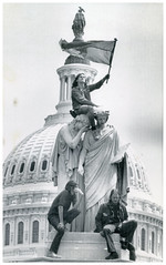 Viet Cong flag flies in front of the Capitol: 1971