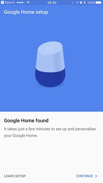 Google Home iOS App - Setup #2