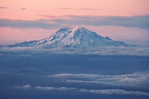 aerial cascadia clouds landscape mountrainier mountain nature oregon pacificnorthwest pretty snow sunset travel washington