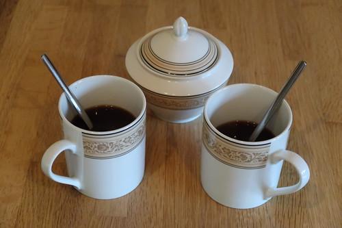 Kaffee bei Ankunft in unserer Ferienwohnung in Poppenhausen (Wasserkuppe)