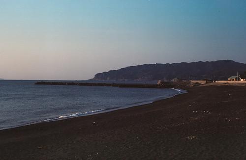 japon japan asia asie stephanexpose awakatsuyama mer sea beach plage sunset coucherdesoleil eau water argentique film pellicule frankarolfixii franka rolfix kodak kodakportra160