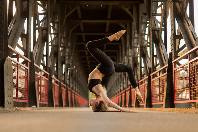 Dancer on a bridge