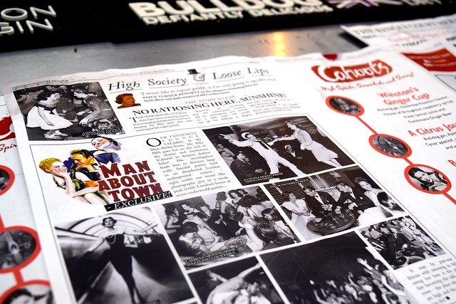 Cahoots Newspaper at Cocktails in the City | www.rachelphipps.com @rachelphipps