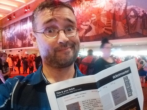 Me and my ticket #toronto #blondie #garbage #concert #sonycentreto