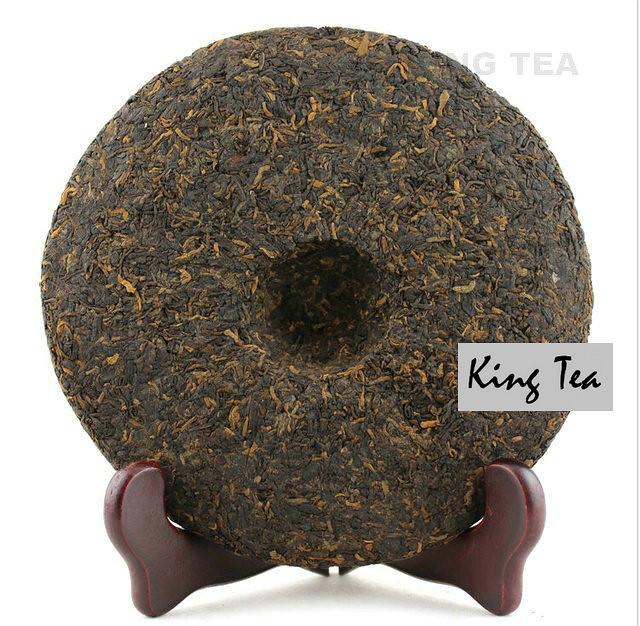Free Shipping 2008 ShuangJiang MengKu 981007 Beeng Cake 400g YunNan MengHai Organic Pu'er Ripe Tea Cooked Shou Cha Weight Loss Slim Beauty