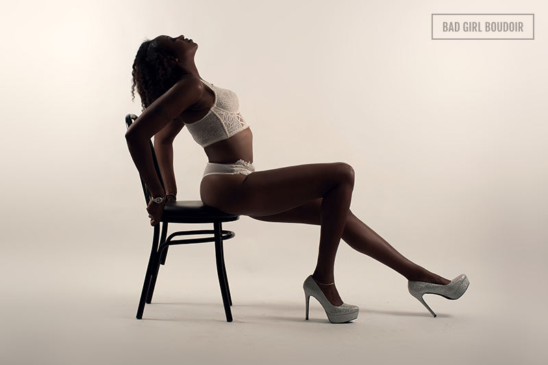 sexy silhouette boudoir african american black woman