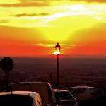 Sun setting over Rome