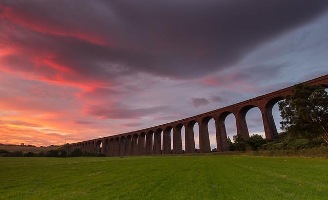 A Viaduct Sunset ..