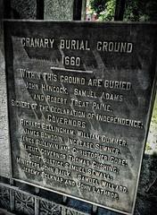 Granary Burial Ground detail