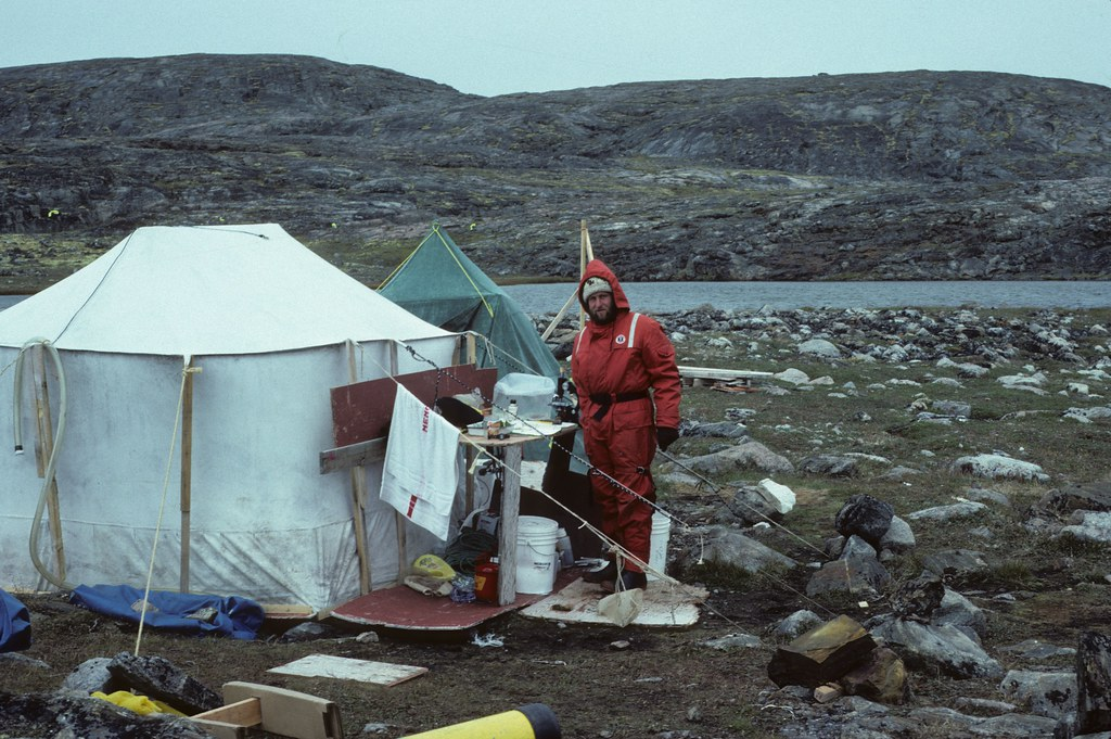 Me at home in our research lab in the Nuvuk Islands.