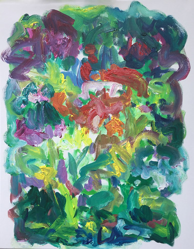 Susan Marx, Garden Alive, 2017, 30x24, acrylic on canvas