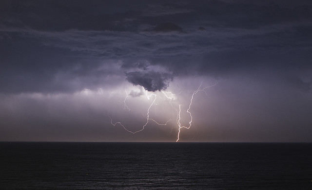 Lightning in Poole Bay