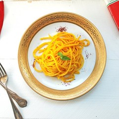 Saffron Pasta (Source) VeganFoodPorn.pictures/ | Vegan Cookbooks On Sale! Like Us On Facebook | Follow Us On Twitter