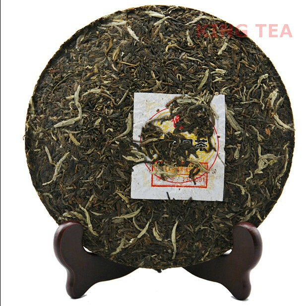 Free Shipping 2013 XiaGuan NanZhao Beeng Cake 454g YunNan MengHai Organic Pu'er Raw Tea Weight Loss Slim Beauty Sheng Cha