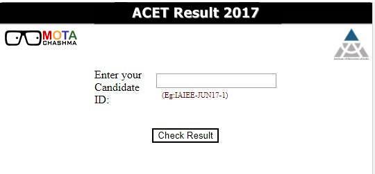 ACET December Result 2017