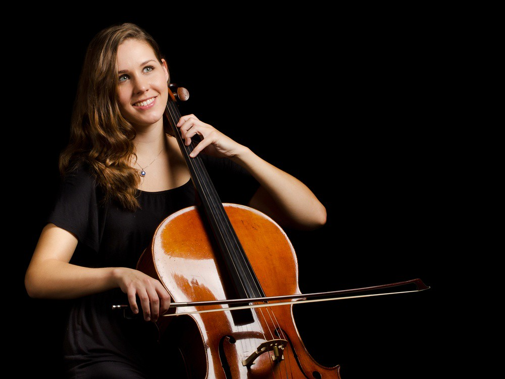 Image of young woman playing the cello