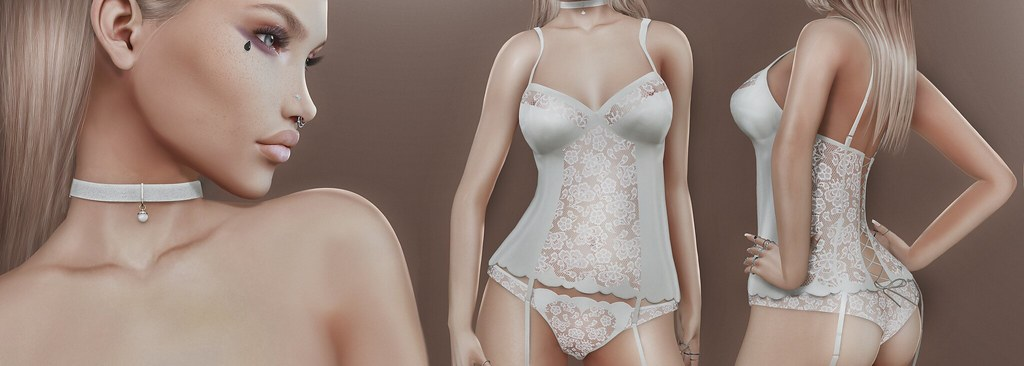 [ kunst ] & [ILAYA] - Lucy lingerie & choker - SecondLifeHub.com