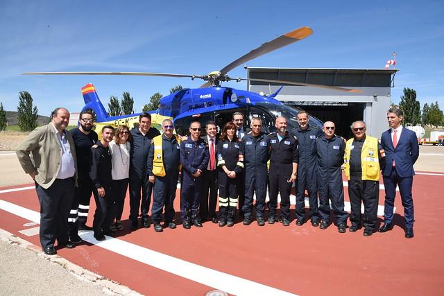 Presentación de los cuatro nuevos helicópteros del SESCAM